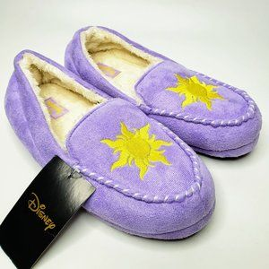 Disney Tangled Sun Top Furry Lined Slippers L New